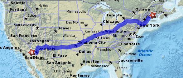 Mapusamainearizona - Arizona map usa