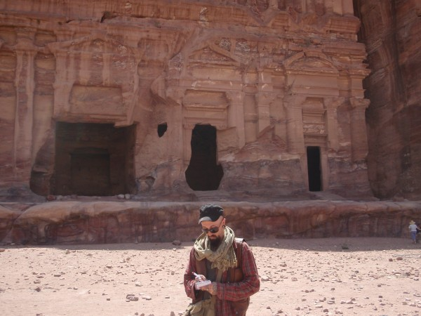 Taking notes in Petra