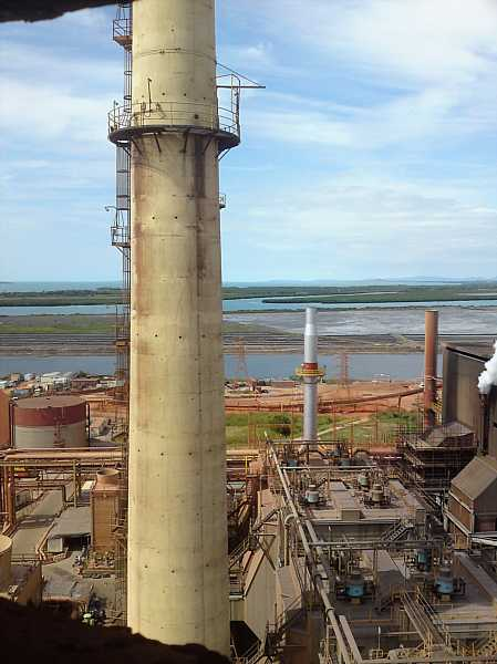 Australian Power Plant Stack at Alumina Refinery