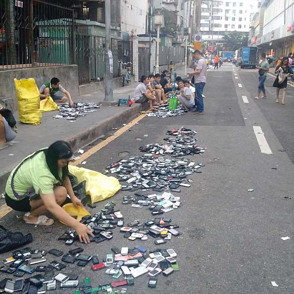 Broken cellphones in Shenzhen