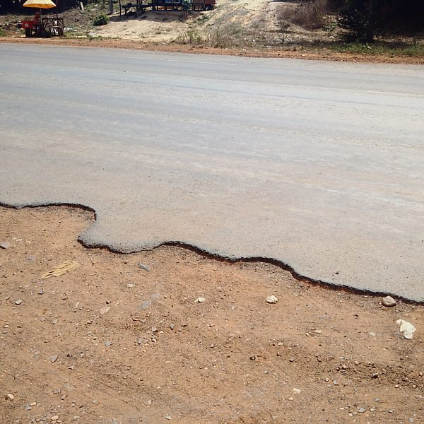 Condition of National Highway 4.