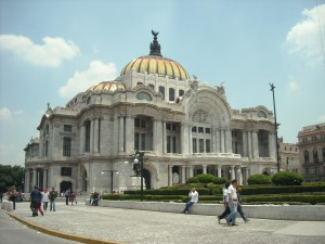 Bellas Artes in downtown Mexico City