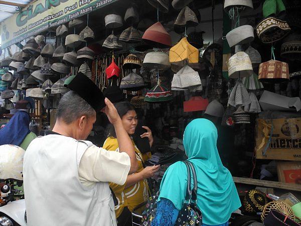 Hat shop in Jakarta