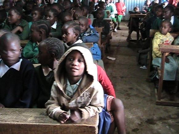 Kenya student in Kibara