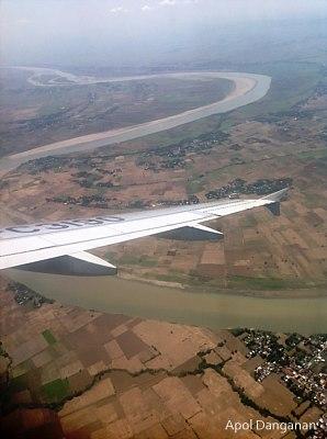 Flight over northern Philippines
