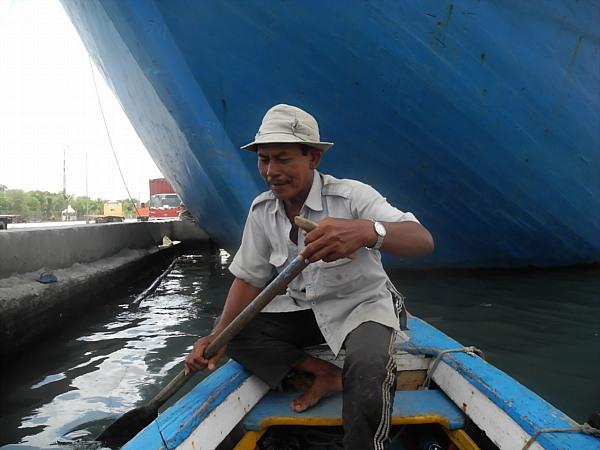 Indonesia boat man