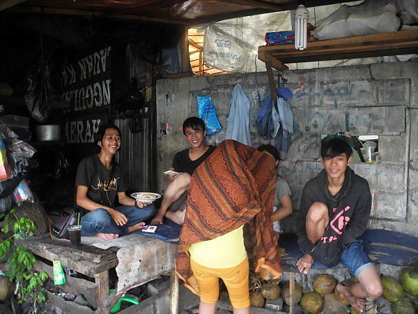 Jakarta coconut vendors