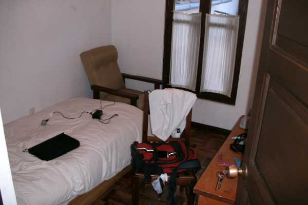 The author's room in Sucre.