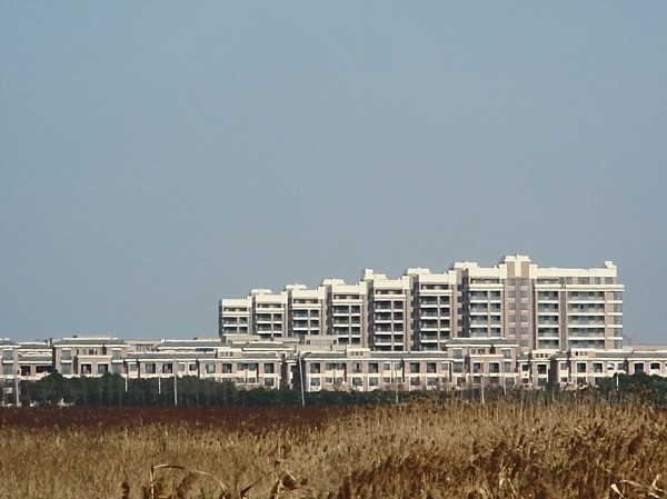 The new city of Nanhui is mostly built on reclaimed land.