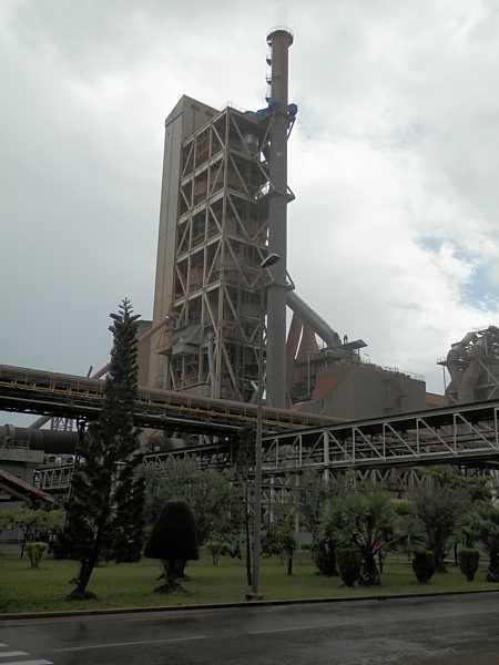 Vietnamese Cement Plant Stack