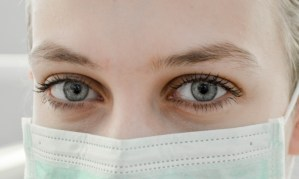 Woman in medical mask