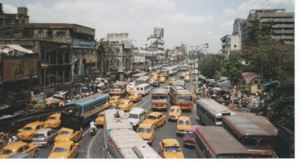 Calcutta traffic -- this is what I imagine being a baby is like