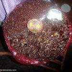 Platter of grasshoppers in Oaxaca market