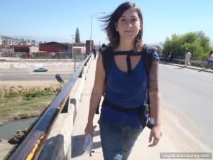 Tourist Walking Monte Alban