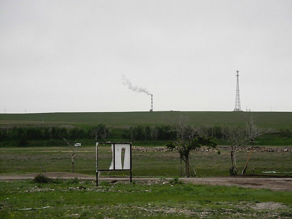 Coal plant in the grasslands of Inner Mongolia.