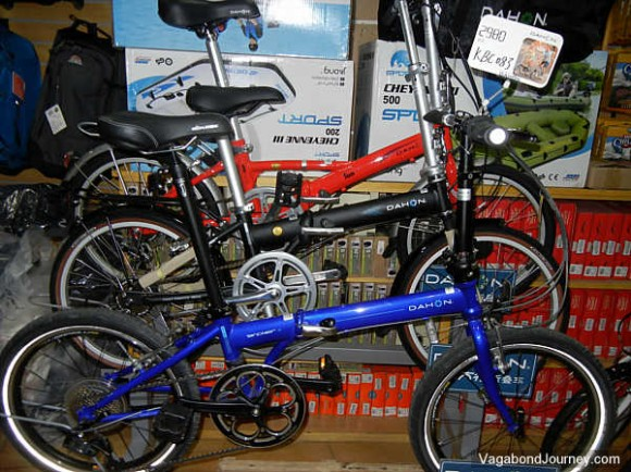 Fold-up bicycles in China
