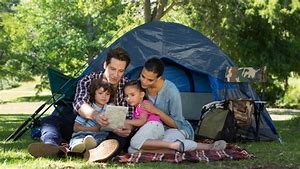 Camping with family