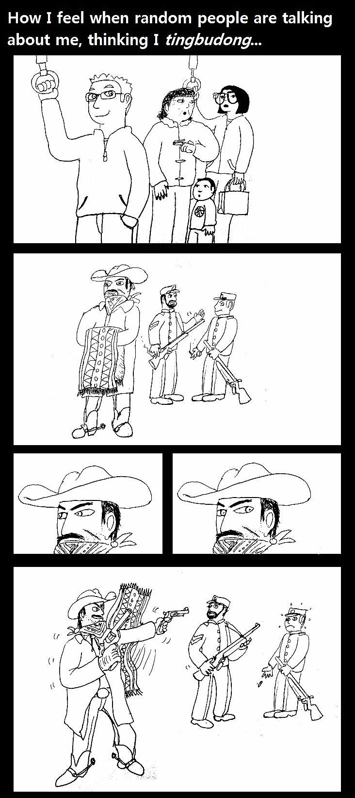 Laoway comic about a foreigner understanding Chinese