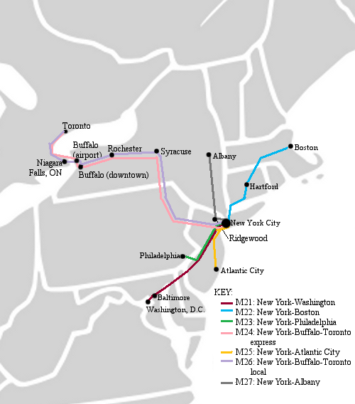 Megabus northeast New York City hub bus routes