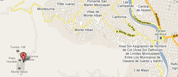 Walking to Monte Alban