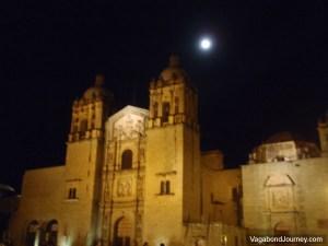 Oaxaca Cathedral Night Moon