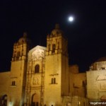 Oaxaca Cathedral Night Moon