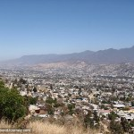 View of Oaxaca City from mountains