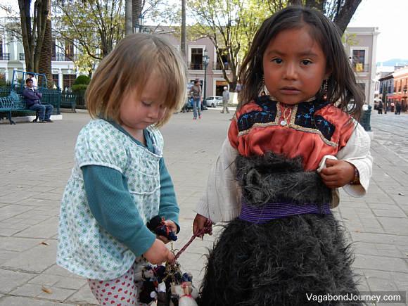 Petra Shepard with Tzotzil Maya girl