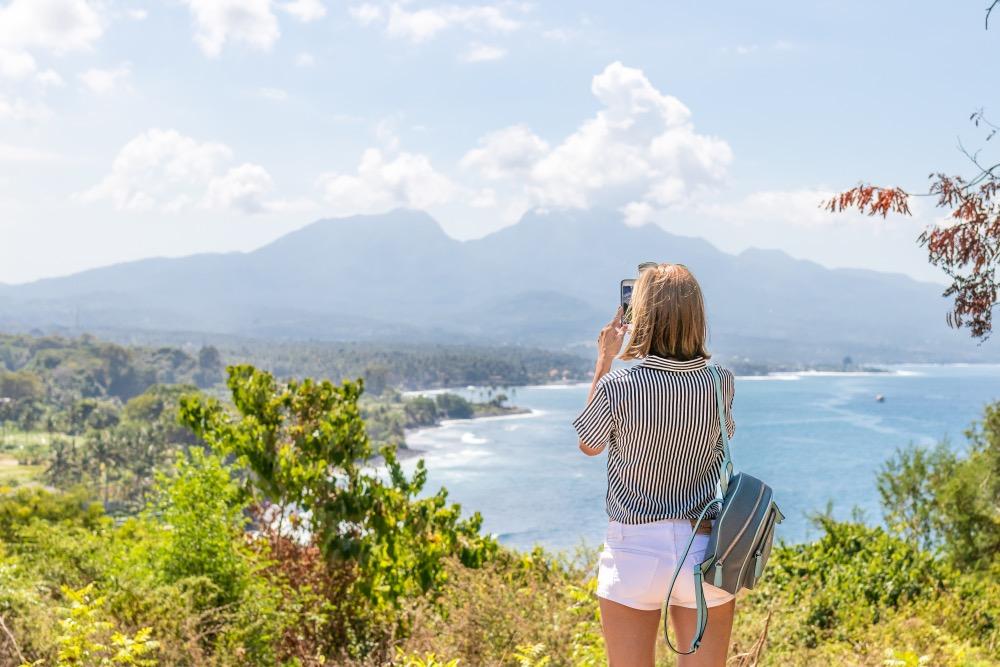 Tourist taking photo