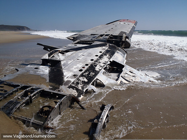 The wreak of a plane in Ventanilla, Mexico