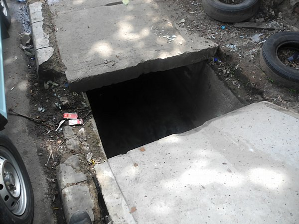 sidewalk hole Jakarta