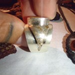 Silver ring made by Dan, a traveling jewelry artisan