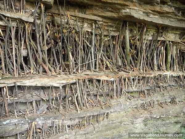This is one mystery that I didn't figure out: visitors would put little sticks in the stratigraphic layers of rock faces