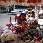 Street vendor selling limonadas cocadas