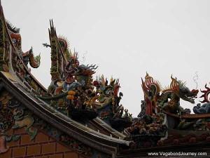 Taoist temple roof