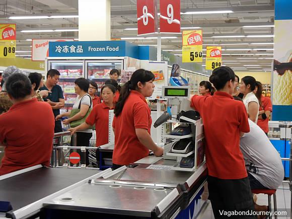 Tesco workers in China strike