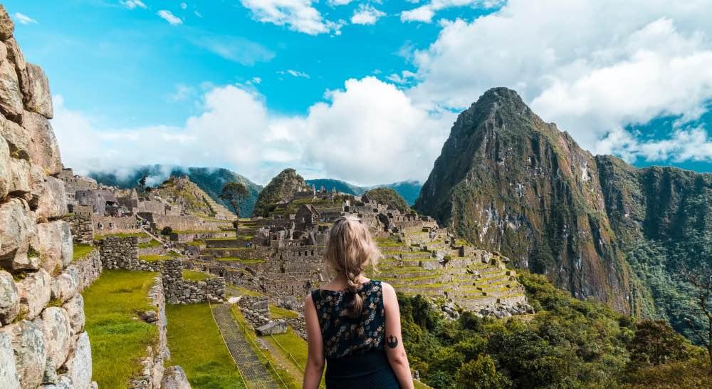 Woman Machu Picchu