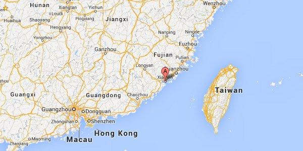 Where is Xiamen?