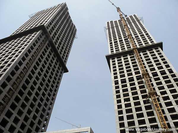 Skyscrapers at China's Manhattan Replica