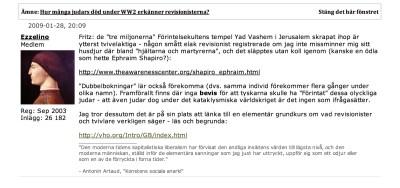 Skjermdump fra en av Ezzelinos tråder på Flashback-forumet.