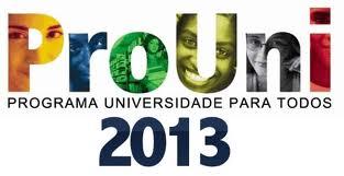Inscrição ProUni 2013