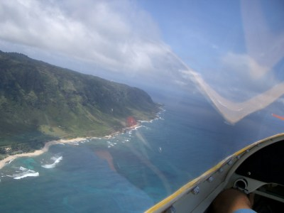 skydiving on Oahu