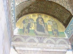 Hagia Sophia, Istanbul landmarks, fresco of Emperor Justinian