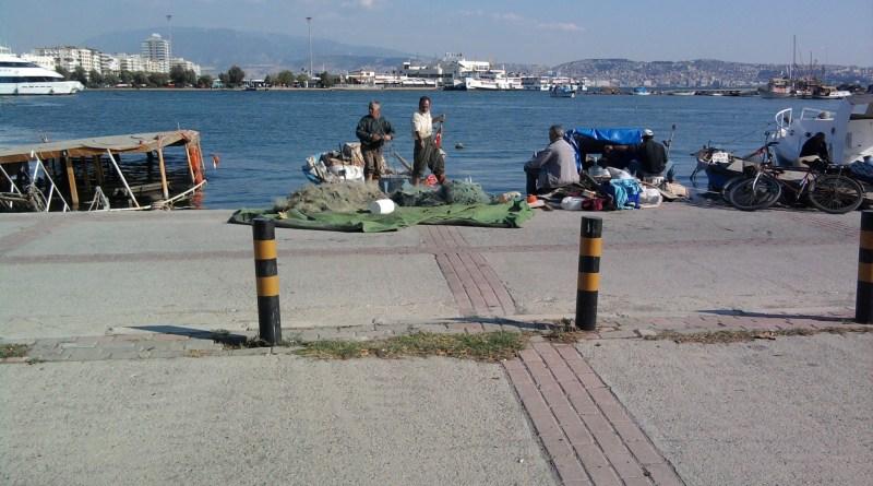 Fishermen in Izmir, Turkey