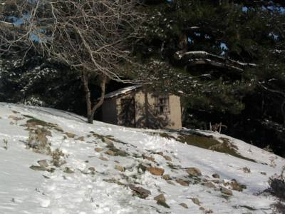 Turkish Mountain Cabin in the Snow