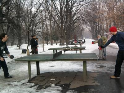 Sofia, Bulgaria, ping pong in the park