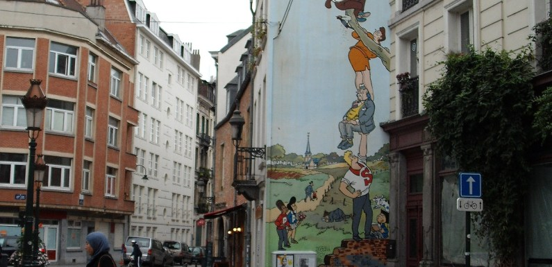 Brussels Comic Murals – Picture of the Day