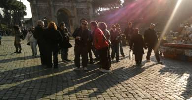 travelers in Rome