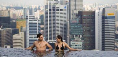 Skypark pool at Marina Bay Sands