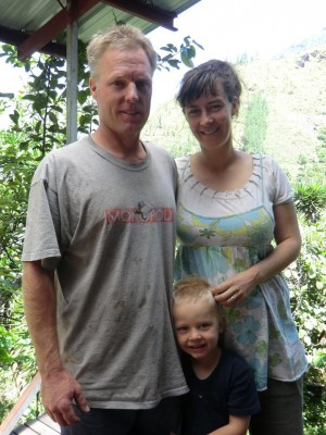 Greenshields Family, Banos Ecuador